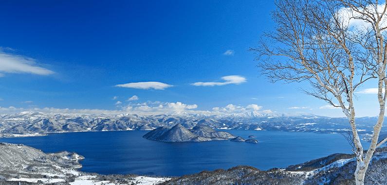 Danau Toya di kelilingi Salju