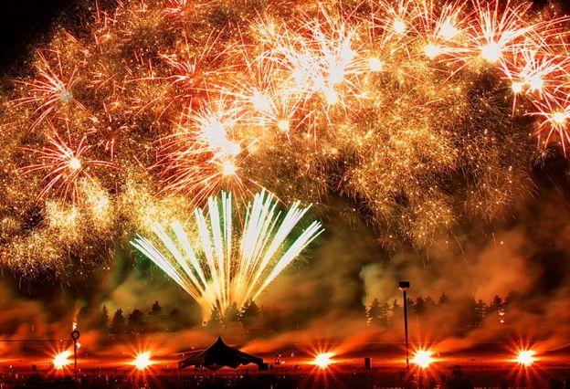 Kembang api di Moerenuma Park