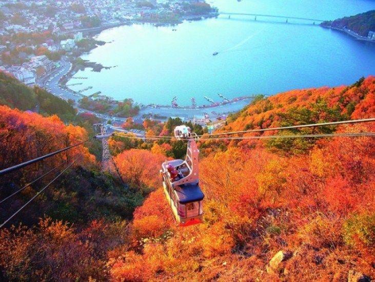 Kachi-Kachi Ropeway autumn Jepang