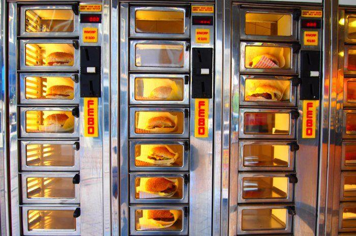 Vending Machine unik di Jepang hamburger