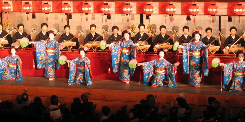 Miyako Odori cherry dance in Kyoto