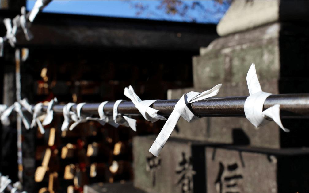Omikuji di kuil Kiyomizudera
