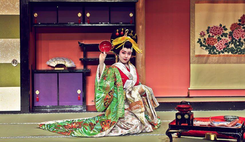 Wakamatsu-ya Pertunjukan Oiran Courtesan