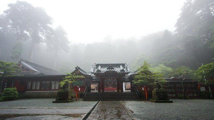 Kuil Hakone di Area Danau Ashinoko