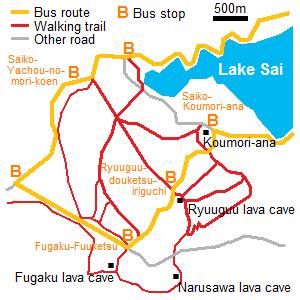 Rute ke Hutan Aokigahara