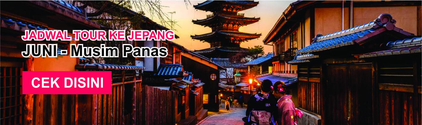 Jadwal promo paket tour ke jepang murah juni musim panas