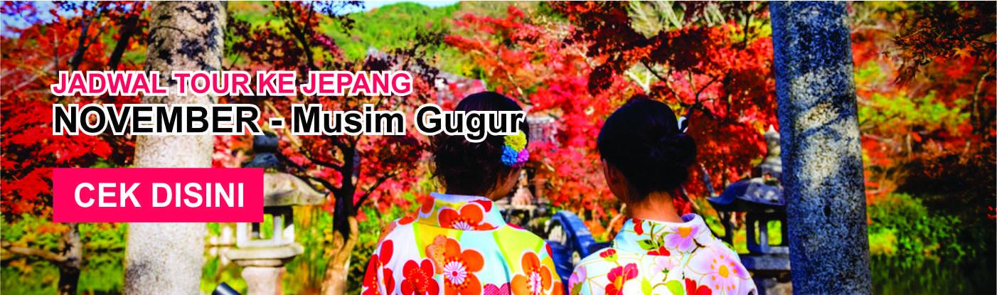 Jadwal promo paket tour ke jepang murah november musim gugur