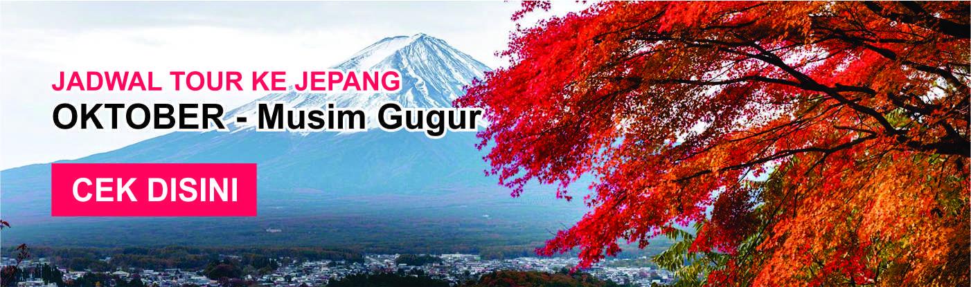 Jadwal promo paket tour ke jepang murah oktober musim gugur