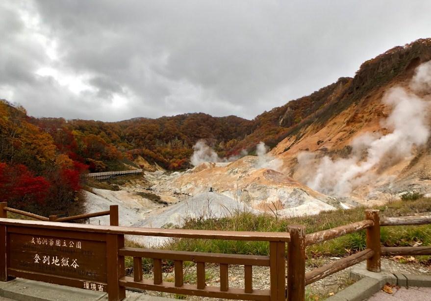 Jigokudani Hell Valley autumn